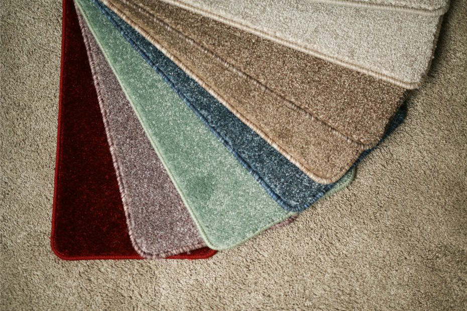 Colourful range of carpet samples by Biesty Carpets